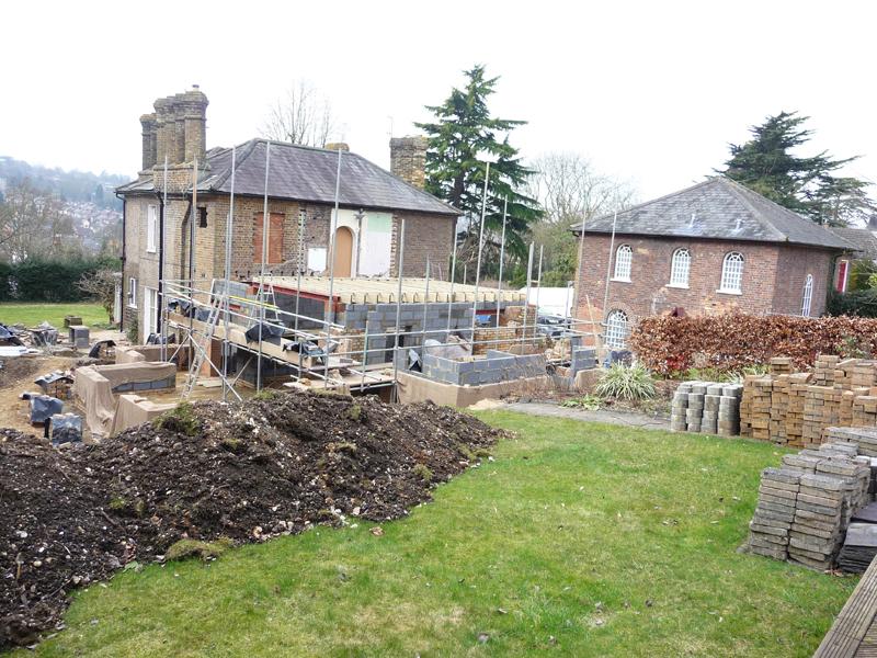 back plot of country garden before design