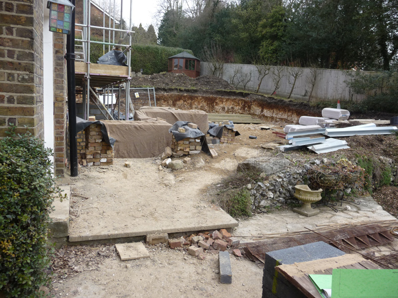 courtyard garden construction and hard landscaping