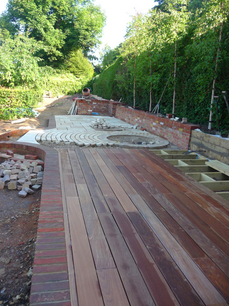 contemporary country garden decking