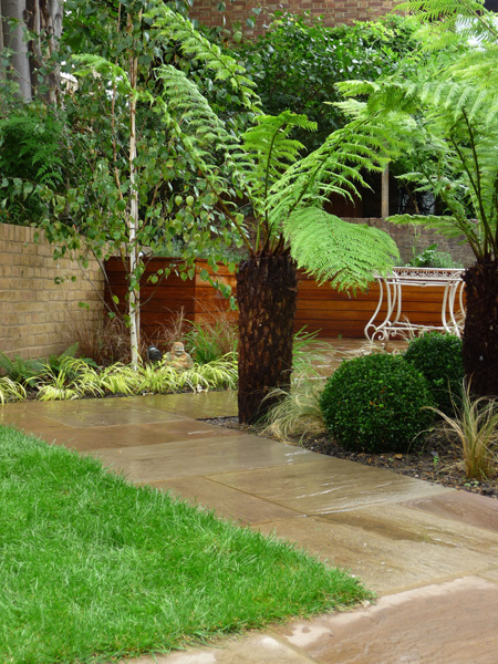 completed modern city garden