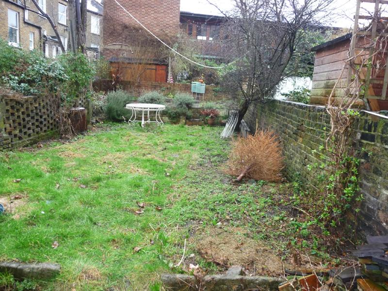 city garden before garden design process