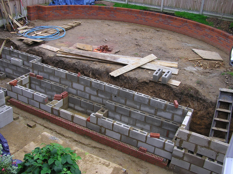 landscaping and construction of family garden to julian tatlock's design
