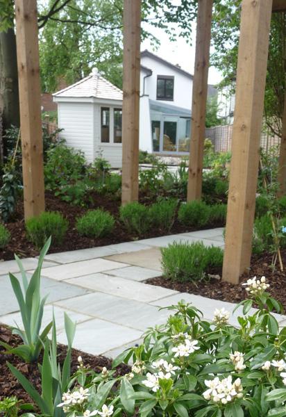 contemporary garden paving